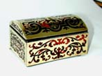 click to view detailed description of An Early Victorian Boule Match Box circa 1850