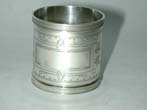 click to view detailed description of An American Sterling Silver Napkin Ring circa 1900