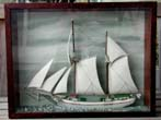 click to view detailed description of A Sailor-Made Lake Michigan Schooner Model depicting the ship