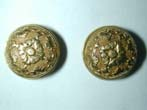 click to view detailed description of A RARE pair of Gold Cufflinks or Buttons by John Corey of London circa 1697-1722