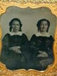 click to view detailed description of A Mid 19th century Ambrotype of Two Women, possibly sisters