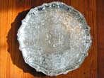 click to view detailed description of A Regency Irish Silver Presentation Salver by William Nowlan, Dublin, 1818