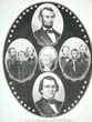 click to view detailed description of A Near 'Mint' Condition circa 1864 Lincoln & Johnson Campaign Poster Entitled 'The Defenders of Our Union'