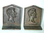 click to view detailed description of A Pair of Antique Bookends Featuring Abraham Lincoln circa 1900-1910