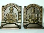 click to view detailed description of A Pair of Antique Bookends by Bradley & Hubbard depicting Budha circa 1925